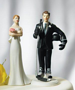 Hockey Groom Mix and Match Wedding Cake Topper