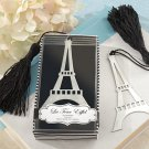 """La Tour Eiffel"" Brush-Finish Bookmark with Black-Silk Tassel"