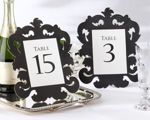 """""""Baroque"""" Openwork Table Number Card (Set of 1-15)"""