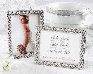 """Silver Braided"" Elegant Photo Frame"