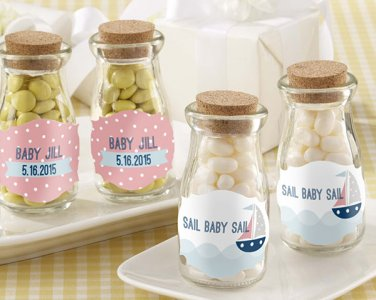 Personalized Milk Jar-Nautical Baby Shower (2 set minimum order required)