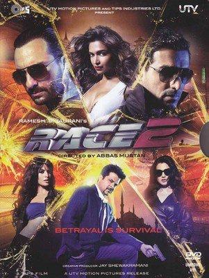 Race 2 Hindi DVD (Movie/Bollywood/Indian/Cinema/Film)*Saif, Anil, John, Deepika