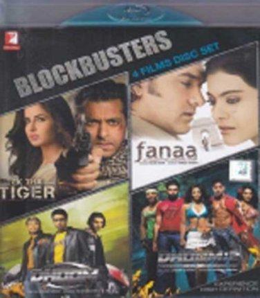 Bollywood Hit Movies Blu Ray Combo (Hindi) (Fanna,Ek Tha Tiger,Dhoom,Dhoom 2)