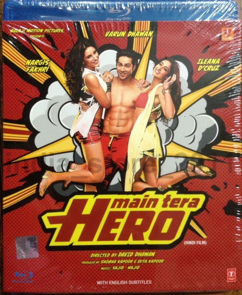 Main Tera Hero Hindi Blu Ray (2014/Bollywood/w English sub)*Varun Dhawan, Ileana