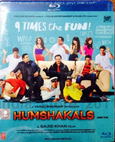Humshakals Hindi Bluray*ing Saif Ali Khan, Hritesh (Bollywood/2014 Movie/Film)
