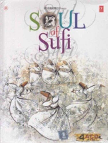 Soul Of Sufi Hindi CD 4 Disc Set (Bollywood/Film/Movie/Music/Songs)