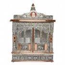 "Puja Mandir (Temple/ Shrine/ Altar/ Pooja) With Doors 25""x 10""x 31"""