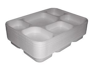 Disposable 6 compartments Party Tray/ Thali/ Plates - 100 Pack