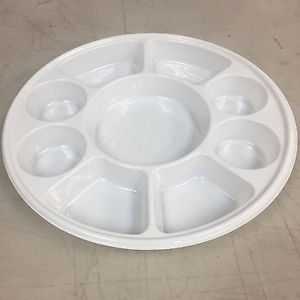 Disposable 9 compartments Round Party Tray/ Thali/ Plates - 100 Pack