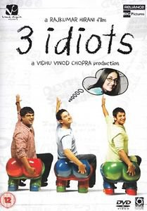 3 Idiots  HINDI DVD - (Stg:Aamir Khan, Kareena Kapoor-Indian Bollywood Movie)
