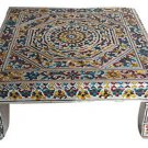 Antique Silver Flower Bajot Large, Premium Quality Puja Bajot /Table/ Chowki
