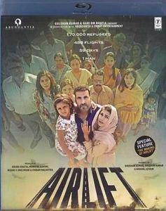 Airlift Hindi Blu Ray - Stg - Akshay Kumar, Nimrat Kaur (Bollywood/Filim/cinema)