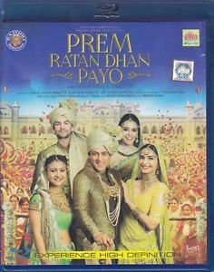 Prem Ratan Dhan Payo Hindi Blu Ray Salman Khan,Sonam Kapoor Bollywood Film