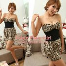 Slim Tube Dress - leopard or white