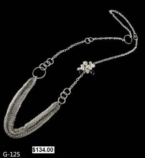 Karla Chavez silver neckace G125