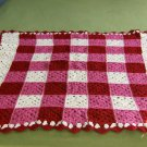 Pink/Red/White Granny Square Baby Afghan