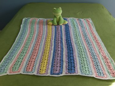 Flat Edged Baby Paints Mile-a-Minute Baby Afghan