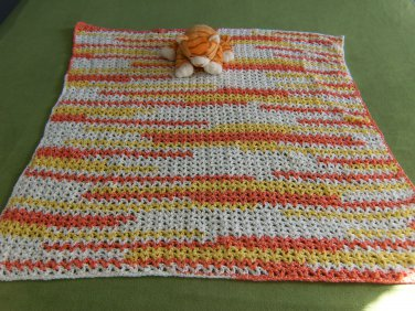 Candy Corn themed Baby Afghan