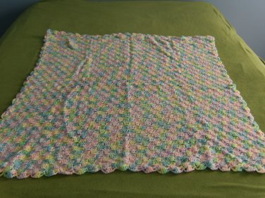 Super Soft Pastel Colored Baby Afghan