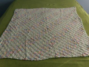 Lightweight Diagonal Stitch Baby Afghan