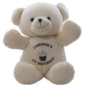 "Blessing Buddies 1st Birthday 14"" Beige Bear"