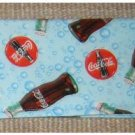 Checkbook Cover: Coca Cola Theme: Coke Bottles on Blue