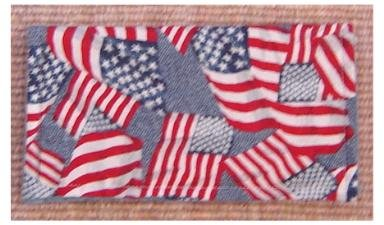 Checkbook Cover: Flag Theme: New Handcrafted