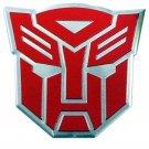 Transformers Autobots Aluminum Large Emblem in Red