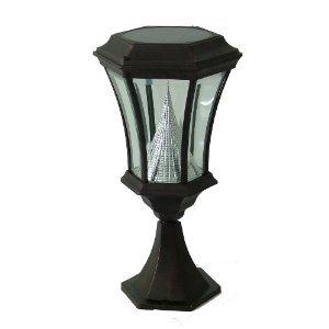 Gamasonic GS-94P-B Deck or Patio Victorian Solar LED Lamp Post, Black FREE SHIPPING