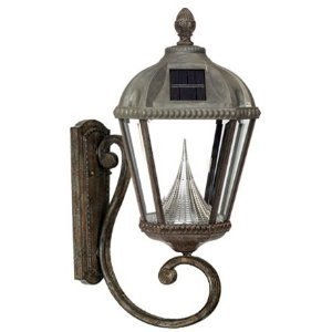 Gama Sonic Royal GS-98W Alum 5LT Solar Photocell Outdoor Wall Light in Weathered Bronze