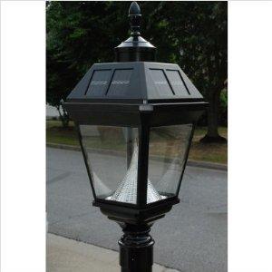 Gama Sonic Imperial GS-97F-G Cast Alum 8LT Solar Photocell Outdoor Post Light in Black