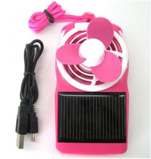Solar Power Fan (Pink)  SALE AND FREE SHIPPING