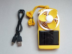 Solar Power Fan (Yellow)  SALE AND FREE SHIPPING