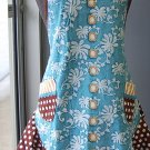 Classic pearls Vintage style flounce Apron