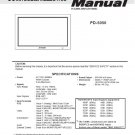 MITSUBISHI PD-5050 PLASMA TV SERVICE REPAIR MANUAL