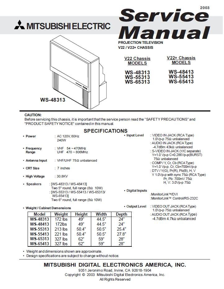 ws 65313 manual ws 65313 manual service manual mitsubishi ws 65313 rh nicesearchengineofmine com Mitsubishi Ex Mitsubishi Mu