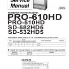 PIONEER ELITE PRO-510HD PRO-610HD SD-582HD5 SD-532HD5 TV SERVICE REPAIR MANUAL