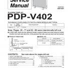 PIONEER PDP-V402 PLASMA TV SERVICE REPAIR MANUAL
