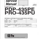 PIONEER PDP-435PE PRO-435PU TV SERVICE REPAIR MANUAL