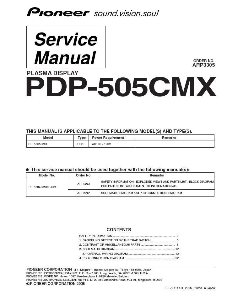 plasma display service manual