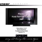 PIONEER KURO PLASMA TV FIELD SERVICE TROUBLESHOOTING GUIDE 2007