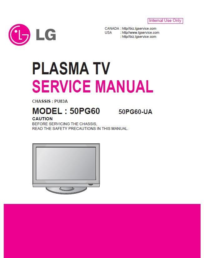 lg 50pg60 50pg60 ua plasma tv service repair manual. Black Bedroom Furniture Sets. Home Design Ideas
