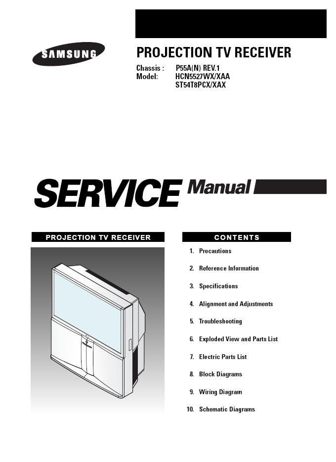 Samsung Hcn5527wx  Xaa St54t8pcx  Xax Tv Service Repair Manual