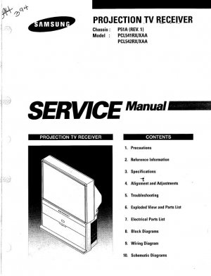 SAMSUNG PCL541RX/XAA PCL542RX/XAA SERVICE REPAIR MANUAL