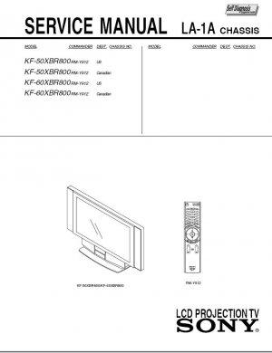 SONY KF-50XBR800 KF-60XBR800 LCD TV SERVICE REPAIR MANUAL