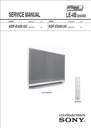 SONY KDF-E42A12U KDF-E50A12U TV SERVICE REPAIR MANUAL