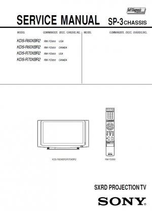 SONY KDS-R60XBR2 KDS-R70XBR2 TV SERVICE REPAIR MANUAL