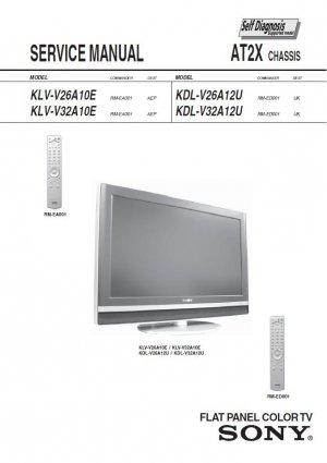 SONY KLV-V26A10E KLV-V32A10E KDL-V26A12U KDL-V32A12U TV SERVICE REPAIR MANUAL
