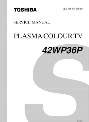 TOSHIBA 42WP36P PLASMA TV SERVICE REPAIR MANUAL