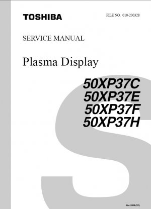 TOSHIBA 50XP37C 50XP37E 50XP37F 50XP37H TV SERVICE REPAIR MANUAL